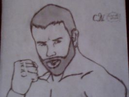 Shaded Daniel bryan by beartic9871