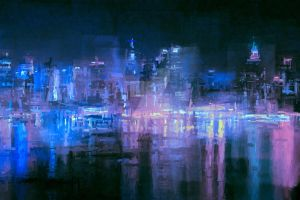 NYC At Night by LC-Bailey-Art