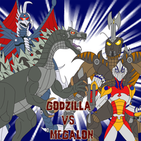 Godzilla vs. Megalon by Daizua123