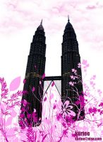 flora and klcc by kuriee