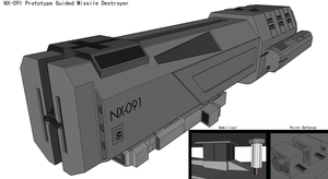NX091 Guided Missile Destroyer by Kalith
