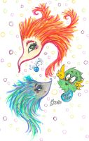 Creatures And A Flying Beeping Fuzzball by Kittychan2005