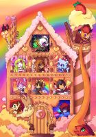 Gingerbread house by Kurohi-tyan
