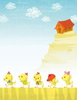 the five chickens by Veronica-Rodriguez