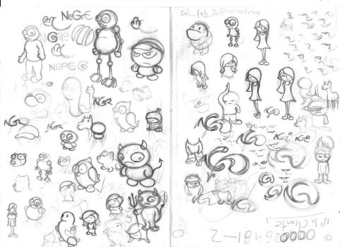 Little characters 1 - Sketch 9 by licenciado-Q