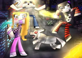 Minecraft - The three amazing friends. by ZorriFox