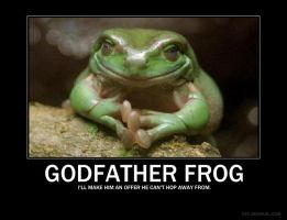 Godfather Frog demotivator by Freyad-Dryden