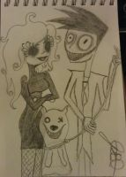 Jeff, Jane, and Smile Dog by Jess2Lucky