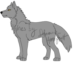 Wolf Lineart - .PSD Version by LindsayPrower