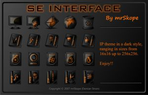 SE Interface orange by mrSkope