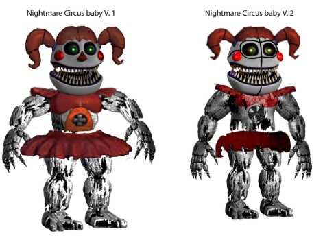 Nightmare baby v1 or Nightmare baby v2 by awesomedragster
