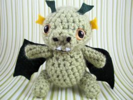 Amigurumi Green Dragon by AmiTownCreatures