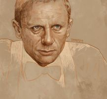 Daily Sketch 12: Daniel Craig in Casino Royale by artandwine365