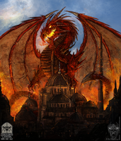 Strolen's Citadel - Dragon Poster by Narcotic-Nightmares