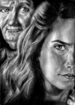 Hermione and Slughorn by tanjadrawing