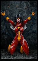 Spider Woman down by johnbecaro