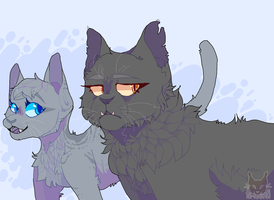 Cinderpelt And Yellowfang by Ao-No-Lupus