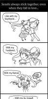 Senshi always stick together by Yunyin