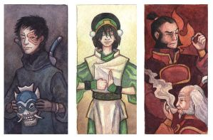 Small Avatar Triptych by emla