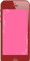 Red iPhone w/ Pink Background by ETSChannel