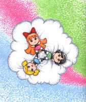 PPG - On Puffy Clouds by Porcubird