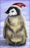 Christmas penguin chick by starmist