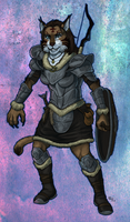Khajiit Warrior by lycanthropeful