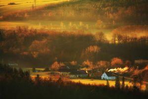 House in Valley by PawelUchorczak