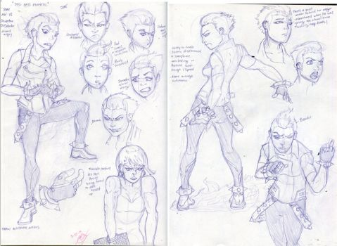 Jone Character Design Sketches by TheIronisT
