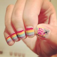 nyan cat nails by cloudy-days95
