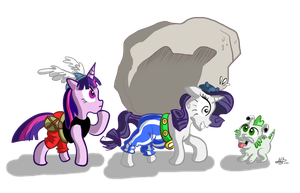 Raritix and her rock by mariods