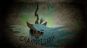 91. Changeling Army Graffiti Wallpaper by Skeletal-K9