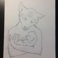 Mother and child by AurorynDragon
