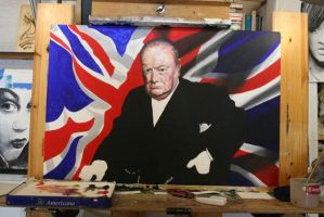 WIP Winston Churchill by NorthumbrianArtist