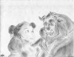 Beauty and the Beast by TEALRICE