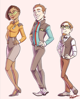 Team Legs for Days (and Vaughn) by AnArtistCalledRed
