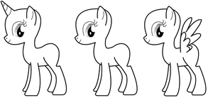base pony sheet for drawing by verolesh