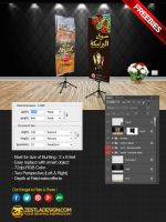 Bunting Mock-up (PSD Freebies) by zestladesign