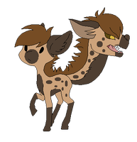 Spotted Hyena Tailhead by Fluffomaru