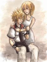 Roxas and Namine by Link-fizzle