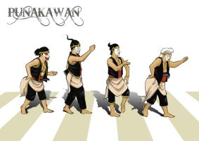Punakawan_Abbey Road by yuwonosigit