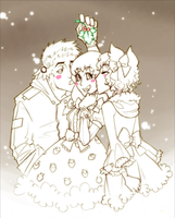 Mistletoe kissies by TwistedAsphyxia