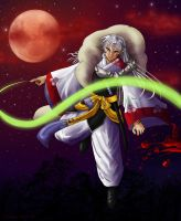 Sesshomaru - Blood in the Moonlight by Dawnchaser