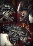 Alien life size statue WIP by RavenMorgoth