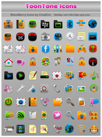 ToonTone BlackBerry Icons by CrazEriC