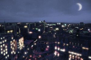 City at night by AsparagusTrevor