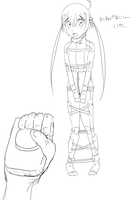 Kyoko in her restraint suit by imoutoid