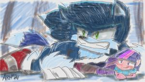 Sonic Werehog And EG Twilight Sparkle. by SonicArt100