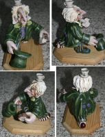 Mad Hatter sculpture 2 views by Reverie09