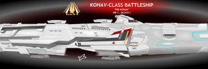Kohav-Class Battleship by Afterskies